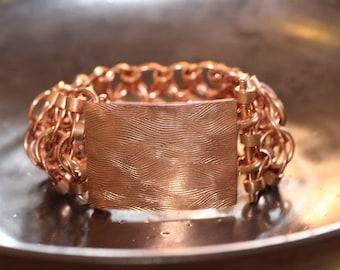 Unisex ~ Copper Chainmaille Buckle Bracelet