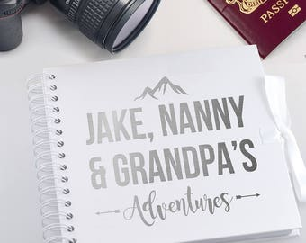 Personalised Scrapbook / Photo Album Custom Designed travelling adventure