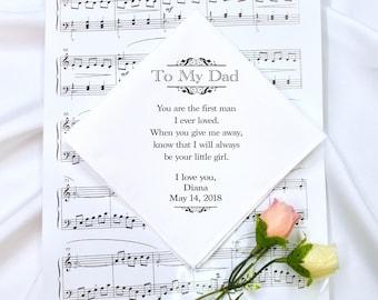 Wedding Hankerchief, Wedding Handkerchief, Father of the Bride Handkerchief,Father Of The Bride Gift, Mom Gift,Printed Hankie, GIFT BOX #2
