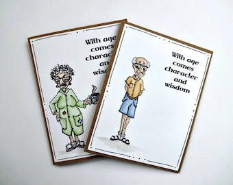 Funny All Occasion Card, Wisdom Card, Birthday Humor, 60th Card, 70th Birthday Greeting, Card For Old Man, Old Lady, Sarcastic Greeting