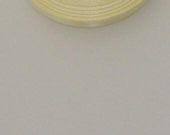 25 m width 10mm pale yellow satin ribbon