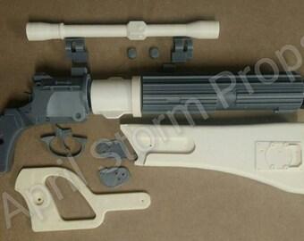 DIY 3d printed Boba Fett ee-3 1:1 scale blaster replica prop from ROTJ mk-II
