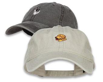 Dog Embroidered Washed Cotton Cap Dad hat/Golden Retriever/Beagle/Dachshund/Shepherd/Corgi/Pug/Collie/Great Dane/Husky/Dalmatian/Chihuahua