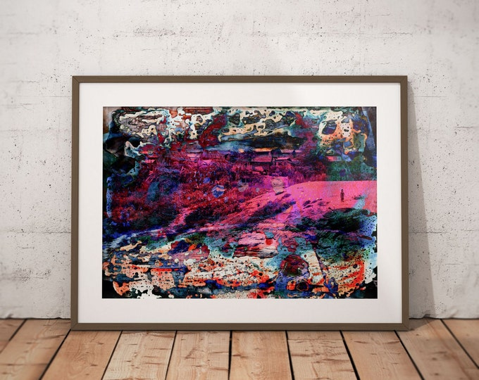 Waterworld XVIII by Sven Pfrommer - Artwork is ready to hang with a solid wooden frame