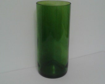 Green Glass Tumbler or Vase