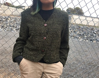 Vintage Green 70s Sweater