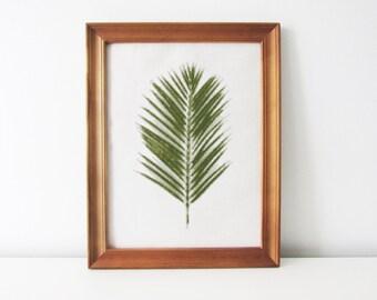 Palm leaf cross stitch pattern - botanical cross stitch - PDF - Instant download