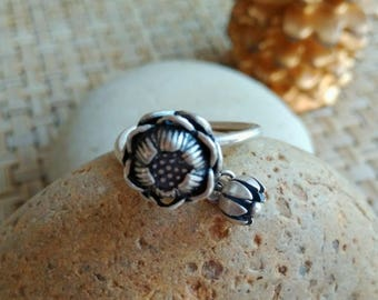 Traditional Handmade Pure Silver Ring from Tribe Miao