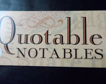 Quotable Notables Scrapbooking Paper Crafting Vellum Paper Expressions, Saying, Phrases, Scrapbook Headings Brenda Walton 3 x 12 K & Co.