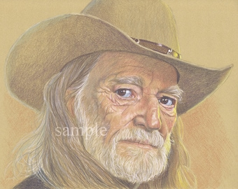 Signed and Numbered Fine Art Print - Willie Nelson