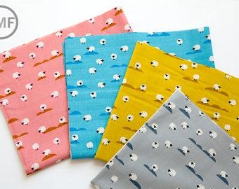 Panorama Sheep Half Yard Bundle, 4 Pieces, Melody Miller and Sarah Watts, Cotton+Steel, RJR Fabrics, 100% Cotton Fabric, 5169