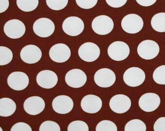 Knit Caffe Brown Dots Fabric 1 yard