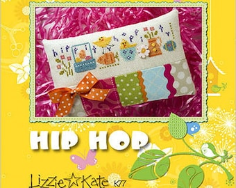 Lizzie Kate - Hip Hop K77 - Easter Cross Stitch Pattern, Fabric and Embellishments