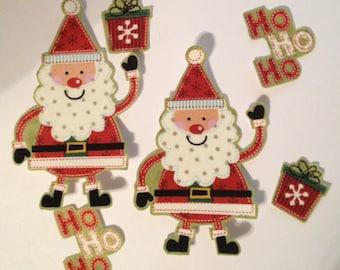 Ho Ho! Santas - Iron on Fabric Appliques