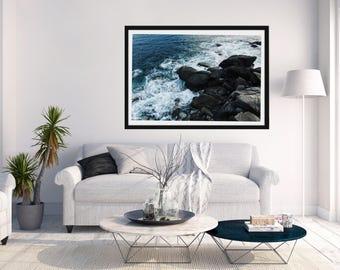 Rocky beach landscape wall art (PRINT)