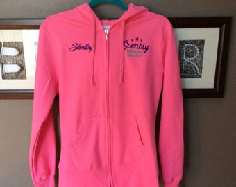 Authorized Scentsy Vendor Scentsy Embroidered Hoodie Hooded Sweatshirt Jacket Consultant Gear Promotional Jacket - 6 Colors to Chose from