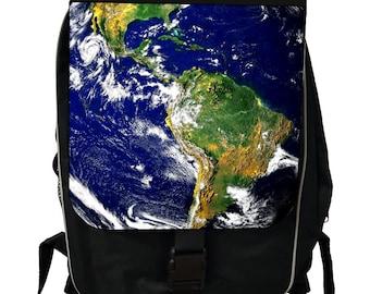 Planet Earth - Globe - Black School Backpack