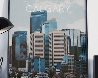 Calgary, Alberta, Canada Poster 11x17 18x24 24x36