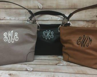 Monogram Purse, Monogram Handbag, Monogram Shoulder Bag, Vegan Leather Purse, Women's Monogram Purse, Ladies' Monogram Purse, Women's Gift