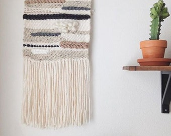 Neutral Lines Large Woven Wall Hanging