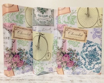 French Wrapping Paper, 3 yards, Wedding Gift wrap, Paper for books, Wedding, French themed Wrapping Paper, NO BOOKS included, Just Paper