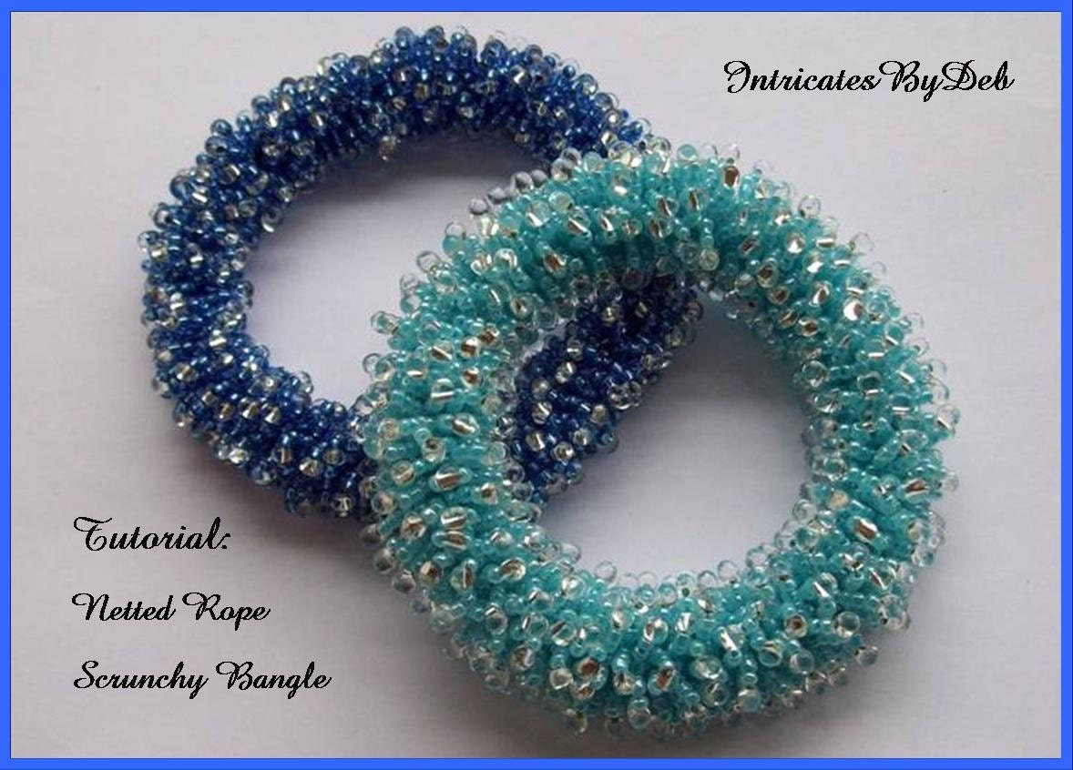 Tutorial beaded netted rope scrunchy bangle bracelet jewelry tutorial beaded netted rope scrunchy bangle bracelet jewelry beading pattern beadweaving instructions pdf do it yourself download solutioingenieria Choice Image