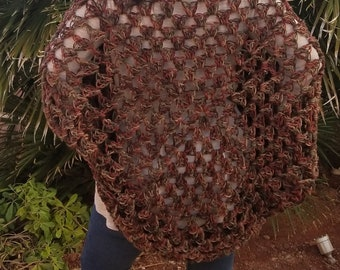 Brown Rose Tri Color Cardigan