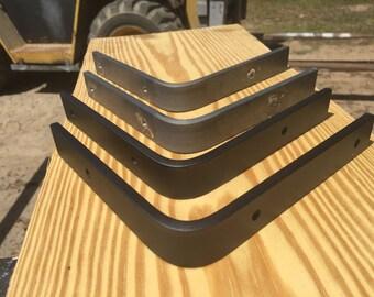 "6x6x1"" wide.  Steel shelf bracket, Rustic shelf bracket, Industrial shelf bracket, Handmade shelf bracket"