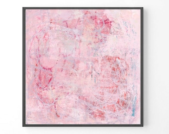 Large Abstract Painting, pastel pink print, large wall art, pastel abstract painting, print from original painting, pastel abstract art,
