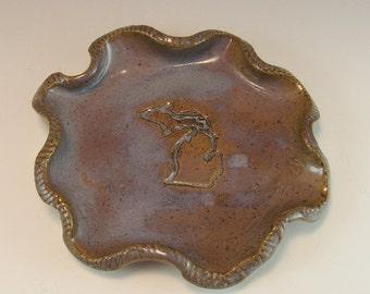 Michigan Pottery Spoon Rest/Change Holder/Candle Holder/Love Michigan Spoon Rest