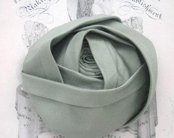 Large Mint Silk Rose Millinery Applique