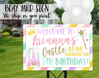 Princess Birthday Sign, Princess Yard Sign, Princess Birthday Yard Sign, Princess Party Sign, Princess Welcome Sign, Princess Lawn Sign