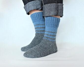 Chaussettes en tricot pour homme Chaussette tricotées en laine Chaussettes pour lui Cadeau epoux Cadeau de Noel pour lui
