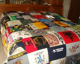 King Sized T-Shirt Quilt ULTIMATE BLANKET