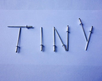 """500 Tiny Rivets - with 3/16"""" heads (price for 500 rivets) - 3/32"""" shaft"""