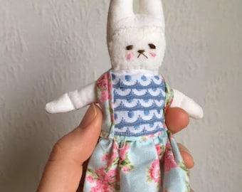 Dollhouse Bunbun, cloth doll, fabric doll, collector's item, art doll, bunny, softie, handmade