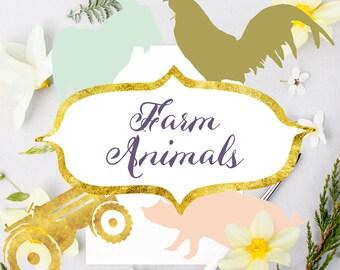 farm clipart, animal clipart, farm animals clipart, animal clip art,farm digital files, instant download, digital art, farm instant download