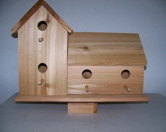 CEDAR BIRDHOUSE with 4 seperate  COMPARTMENTS