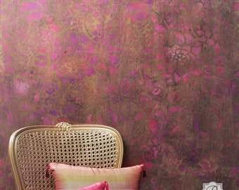 Francesca Floral Large Wall Stencil Allover Pattern for Wall Decor DIY Wallpaper Look