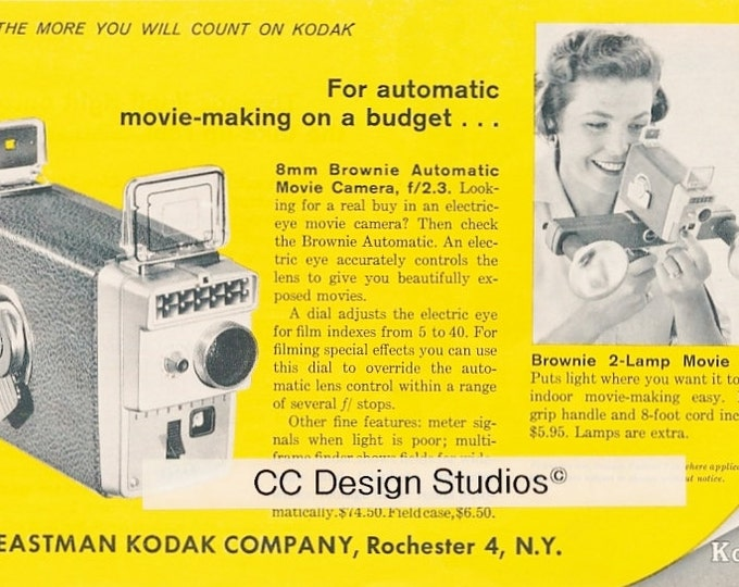 Vintage Kodak Magazine Advertisements 1960 - Collectible Photography Ad - 3 Different Ads - Made in the USA - Approx. 8 x 5.5 inches each