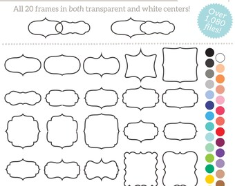 Digital Printable Frames Tags