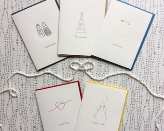 Bundle of Five Wedding Cards