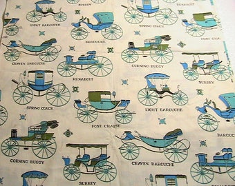 Material, Vintage Carriage Scene Material, Types of Carriages Buggies, Printed Carriage Material, Vintage Carriage