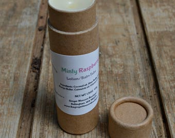 Minty Raspberry Lotion Balm Tube, Moisturize, Repair, Natural, Skincare, Protect, Mint, Berries, Body Care, Accessory