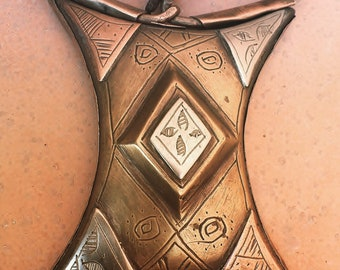 Rare Tuareg Amulet Tscherot, Gris-Gris Copper and Metal