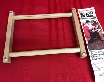 "Edmunds Scroll Frame - 6"" x 12"" Hardwood Split Rail"