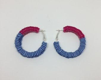Ribbon earrings <Ring> BP
