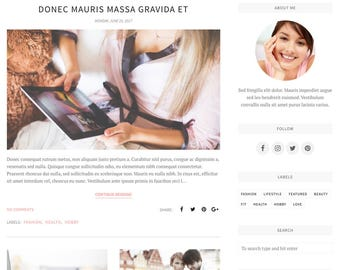 Blogger Template, Blogger Theme, Template Responsive, Minimal, Simple, Grid, Slider, Design, Blogspot - Belle