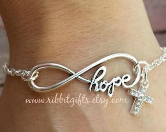 Hope Cross Infinity Bracelet