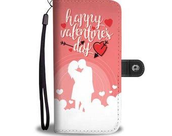 Happy Valentine's Day Women's Phone Wallet Case iPhone Samsung Galaxy HTC LG Pixel